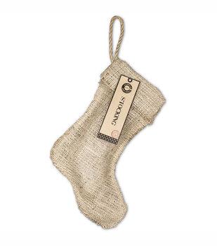 """Burlap Small Stocking 8""""X10-1/2""""-"""