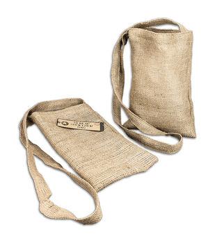 """Burlap Medium Shoulder Bag 8-1/2""""X13""""-"""