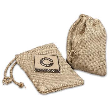 Canvas Corp Burlap Drawstring Bag