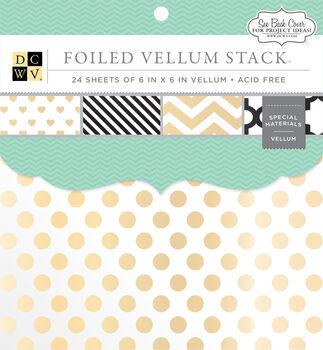 "DCWV 6""x6"" Foiled Vellum Stack"