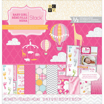 Die Cuts With A View Paper Stack Baby Girl