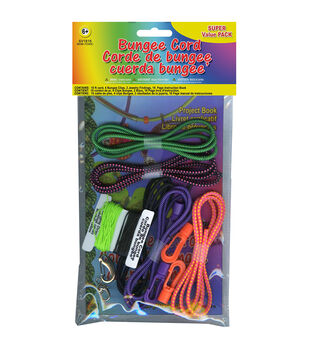 Bungee Cord Super Value Pack 5 Colors/Pkg 15' Total