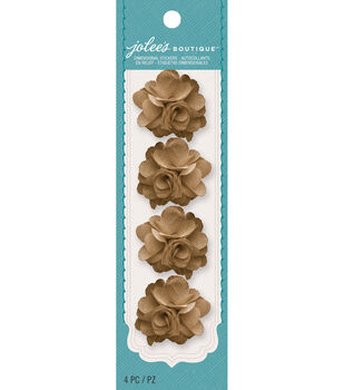 Jolee's Boutique - Burlap Mini Flowers