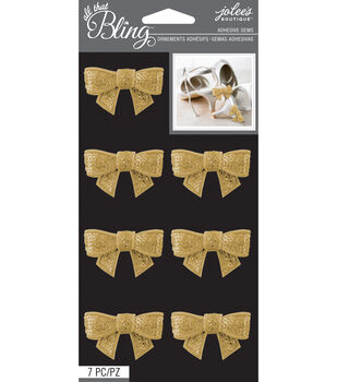All That Bling - Jolee's Boutique - Gold Sequins Bow Bling
