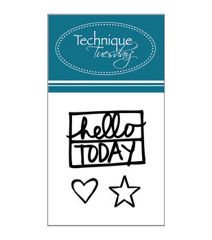 Technique Tuesday Clear stamps Hello Today By Ali Edwards