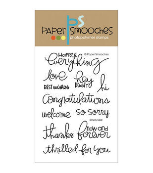 Paper Smooches Clear stamps Simply Said