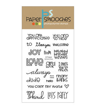 Paper Smooches Clear stamps Word Salad