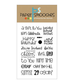 Paper Smooches Clear stamps Birthday Sampler