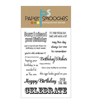 Paper Smooches Clear stamps Happy Birthday