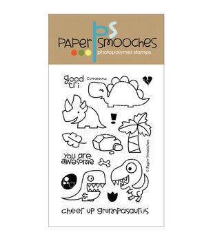 Paper Smooches Clear stamps Cuteasaurus