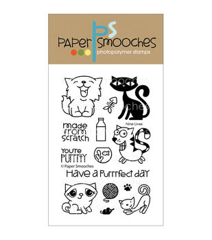 Paper Smooches Clear stamps Nine Lives