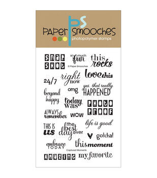 Paper Smooches Clear stamps Captured Moments