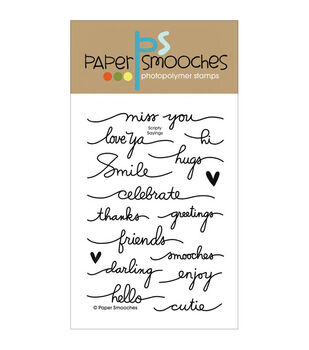 Paper Smooches Clear stamps Scripty Sayings