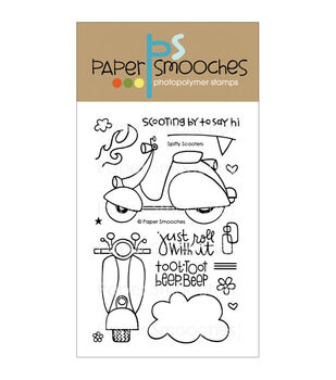 Paper Smooches Clear stamps Spiffy Scooters