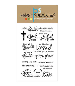 Paper Smooches Clear stamps Spiritual Sampler