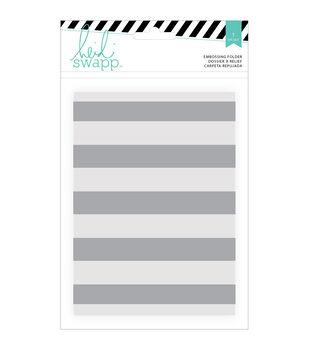 """Wanderlust Embossing Folders 5""""X7""""-Stripe"""