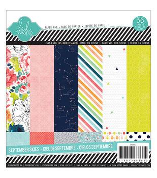 Heidi Swapp September Skies Paper Pad 6''x6''