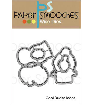 Paper Smooches Cool Dudes Icons Die