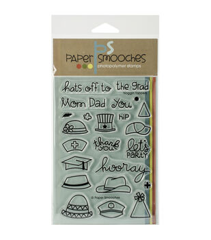 Paper Smooches Noggin Toppers Clear Stamps