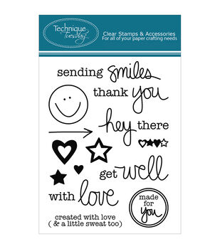 Technique Tuesday Sending Smiles Clear Stamps