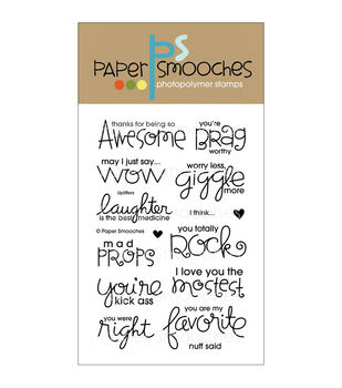 Paper Smooches Uplifters Clear Stamps