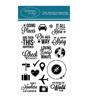 Technique Tuesday Going Places Clear Stamps