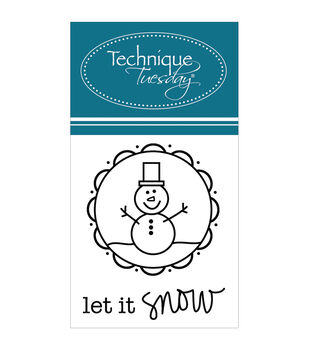 Technique Tuesday Let It Snow Clear Stamps