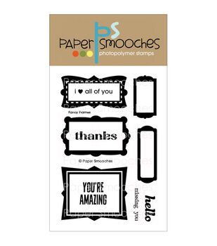 """Paper Smooches 4""""X6"""" Clear Stamps-Fancy Frames"""
