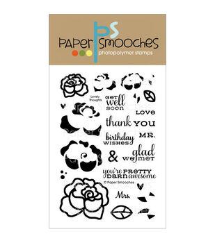 """Paper Smooches 4""""X6"""" Clear Stamps-Lovely Thoughts"""