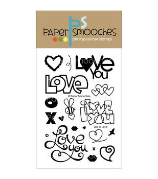 """Paper Smooches 4""""X6"""" Clear Stamps-Lots Of Love"""