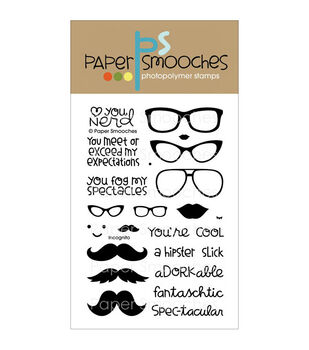 """Paper Smooches 4""""X6"""" Clear Stamps-Incognito"""
