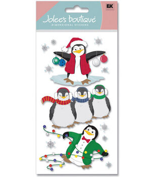Jolee's Boutique Le Grande Dimensional Stickers-Penguins