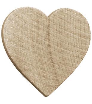 Wood Turning Shapes-Heart 1-1/2'' 7/Pk