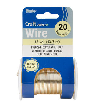 Beading Wire 20 Gauge 15yd/Pkg-Gold Colored Copper Wire