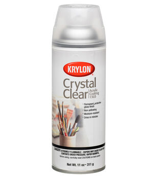 Krylon Crystal Clear Varnish Spray  11 oz
