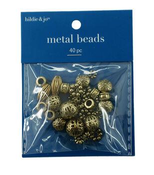 Darice Big Value! Cast Spacer Beads-40PK/Gold