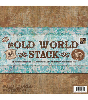 Die Cuts With A View Premium Paper Stack Old World