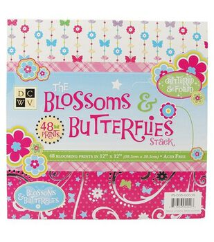 Die Cuts With A View Premium Paper Stack Blossoms & Butterflies