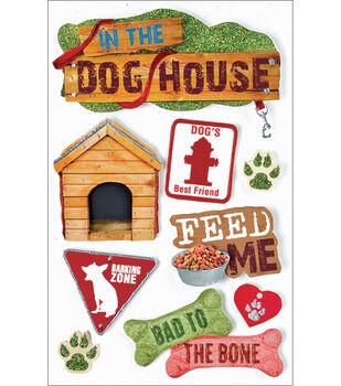 Paper House Pet 3-D Stickers-Dog