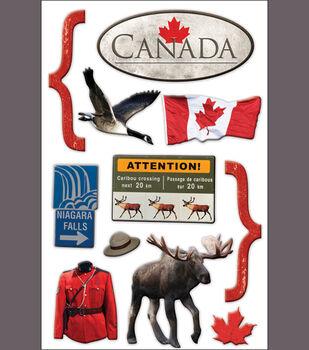 Paper House 3-D Sticker-Canada