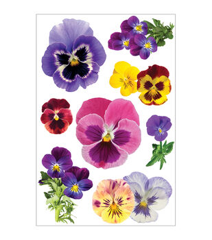 Paper House 3D Stickers-Pansies