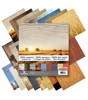 Paper House 100% Country Double-Sided Paper Pad 12''x12''