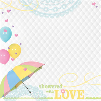 Paper House Baby Shower Showered With Love Paper 12''x12''