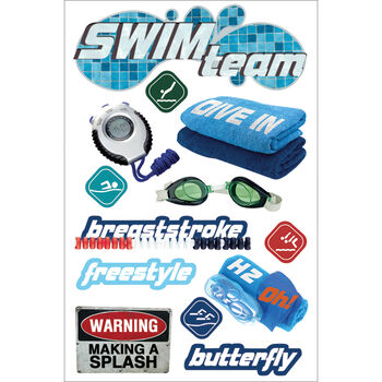 Paper House 3D Sticker Swimming