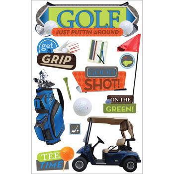 Paper House 3D Sticker Golf