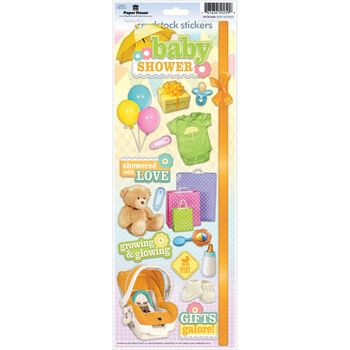Paper House Baby Shower Cardstock Stickers