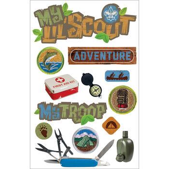 Boy Scout -3d Stickers