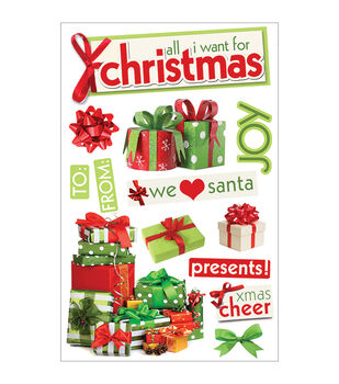Paper House 3-D Sticker All I Want For Christmas