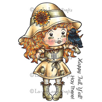 La-La Land Crafts Cling Mount Halloween Stamps Scarecrow Marci