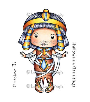 La-La Land Crafts Cling Mount Egyptian Mummy Marci Rubber Stamps